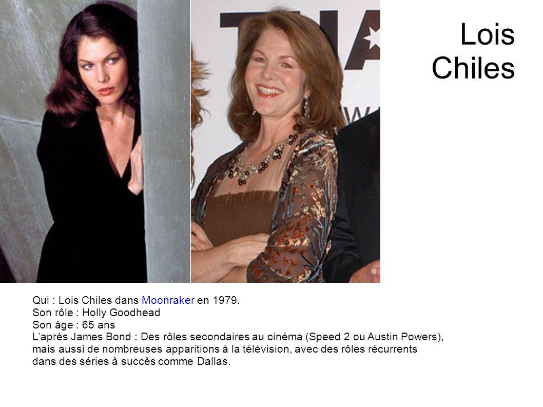 Lois Chiles Qui : Lois Chiles dans Moonraker en 1979.