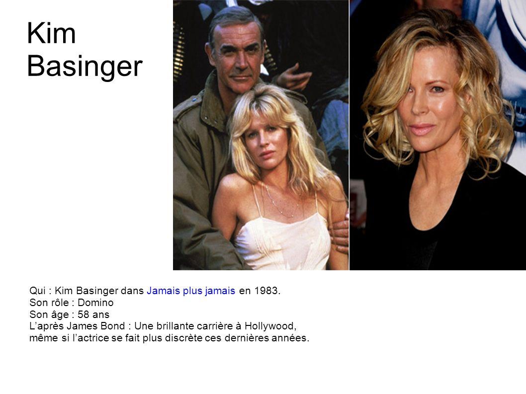 Kim Basinger Qui : Kim Basinger dans Jamais plus jamais en 1983.