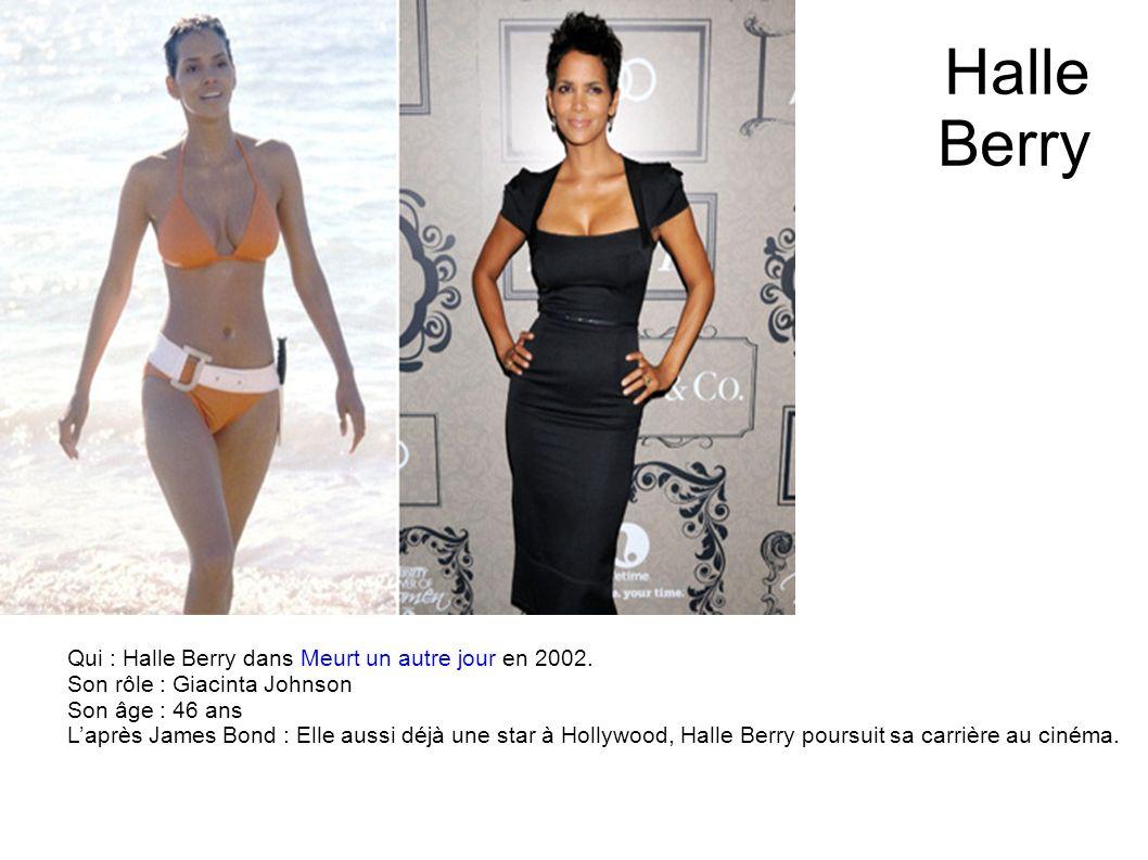 Halle Berry Qui : Halle Berry dans Meurt un autre jour en 2002.