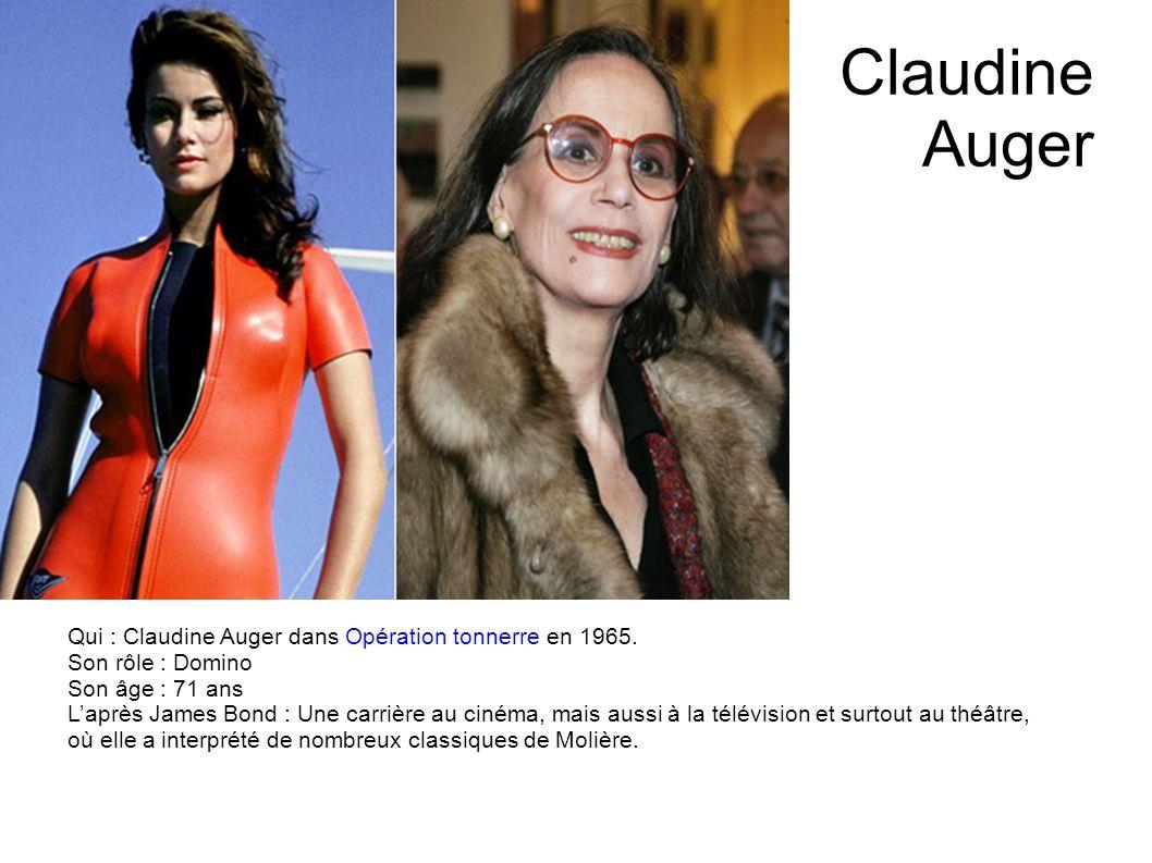 Claudine Auger Qui : Claudine Auger dans Opération tonnerre en 1965.