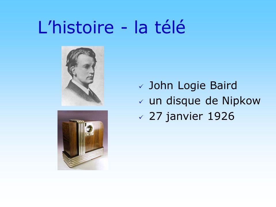 L'histoire - la télé John Logie Baird un disque de Nipkow