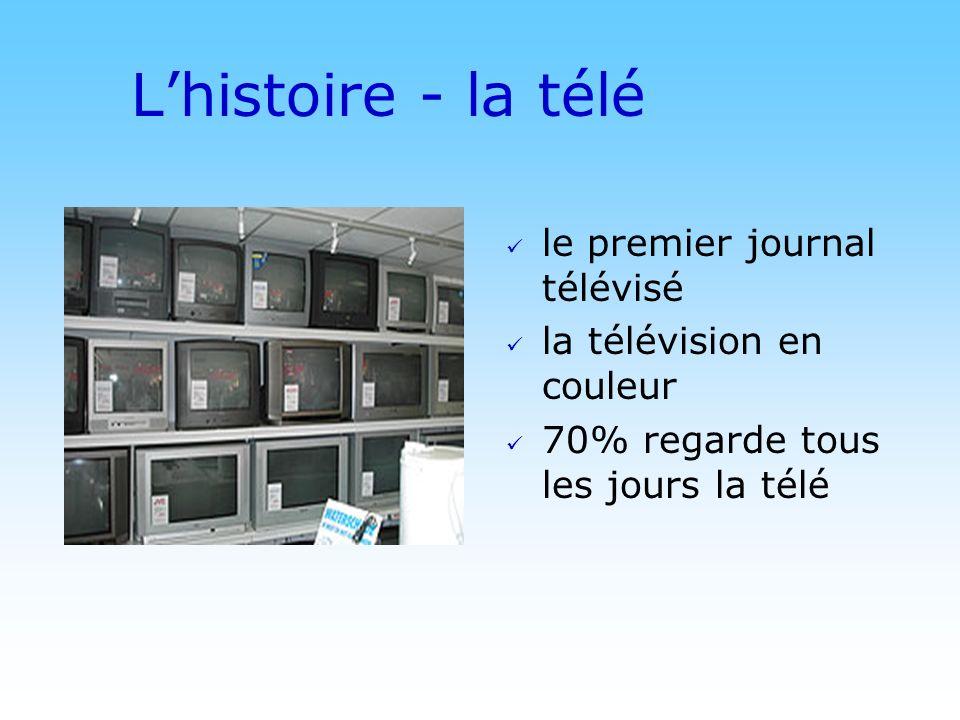 L'histoire - la télé le premier journal télévisé