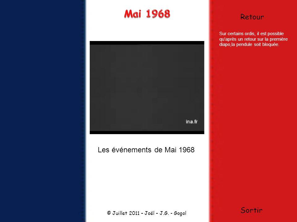 Mai 1968 Retour Les événements de Mai 1968 Sortir