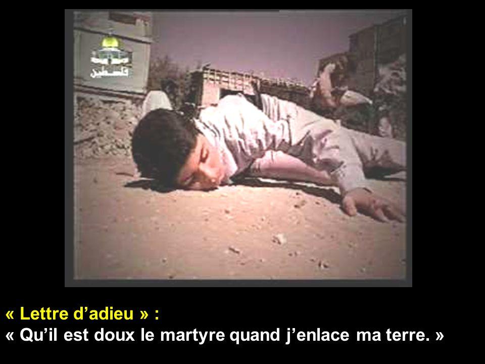 « Lettre d'adieu » : « Qu'il est doux le martyre quand j'enlace ma terre. »
