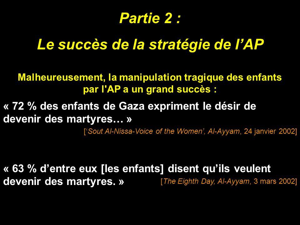 Le succès de la stratégie de l'AP