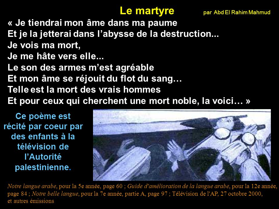 Le martyre par Abd El Rahim Mahmud