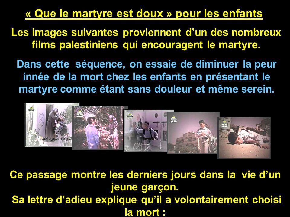 « Que le martyre est doux » pour les enfants