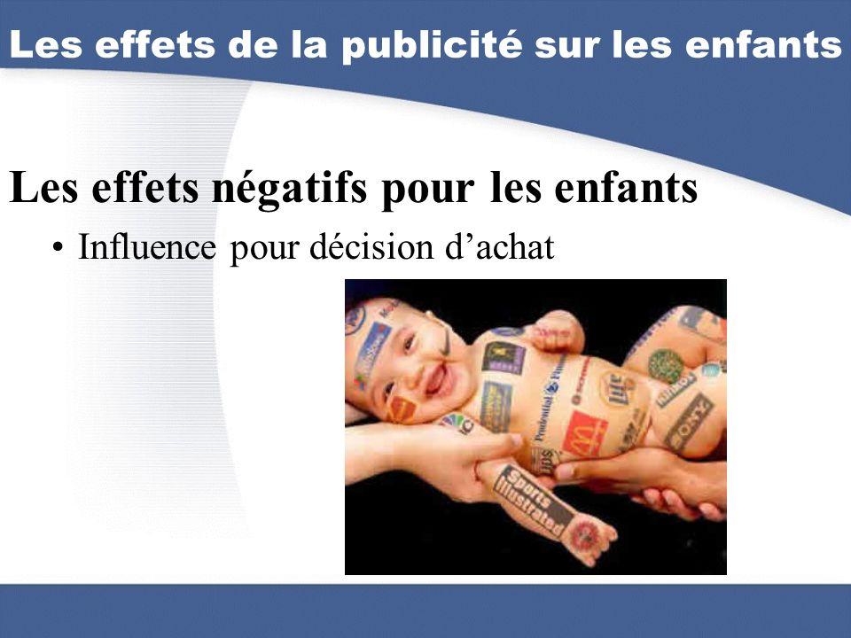 Les effets de la publicité sur les enfants