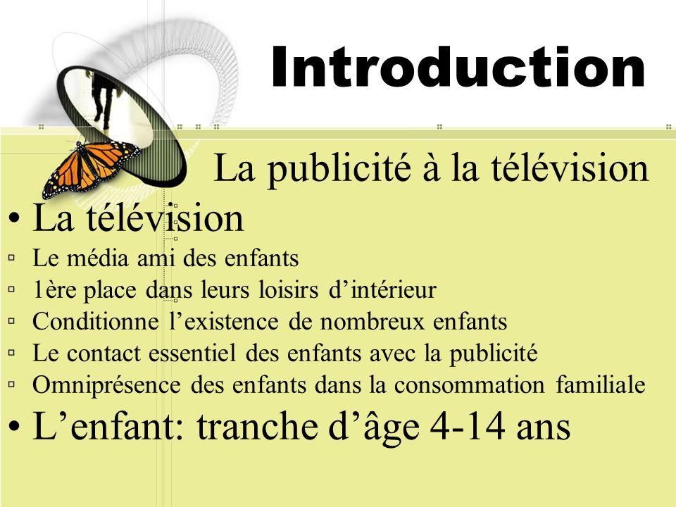 Introduction La publicité à la télévision La télévision