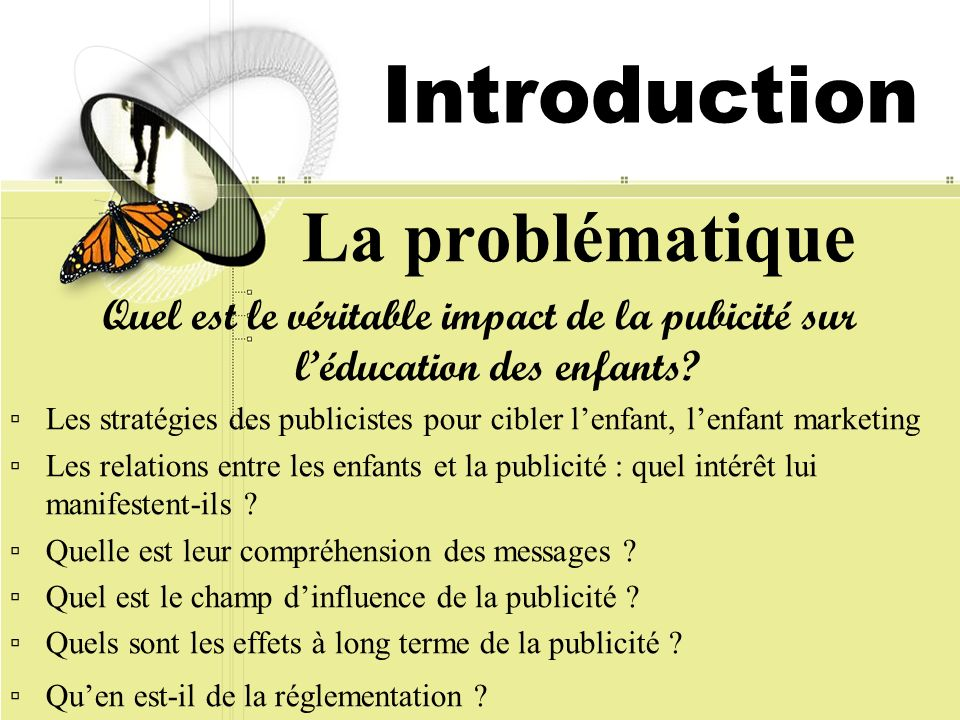 Introduction La problématique