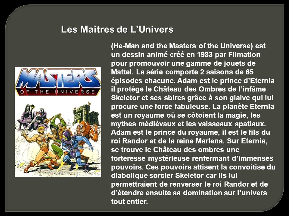 Les Maitres de L'Univers