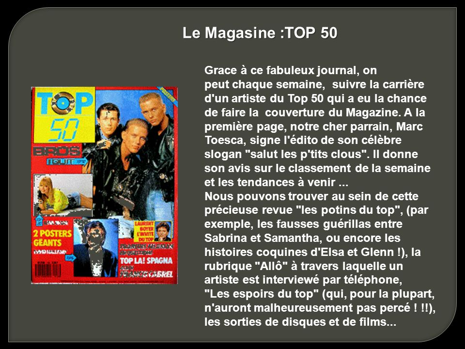 Le Magasine :TOP 50