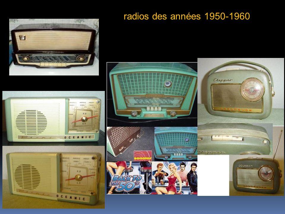 radios des années 1950-1960