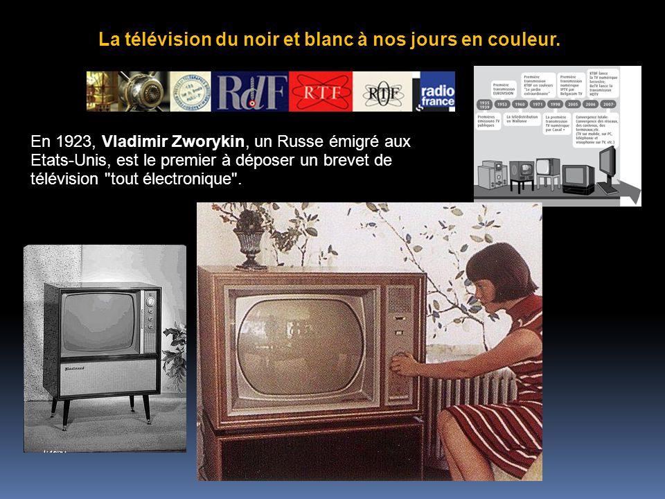 La télévision du noir et blanc à nos jours en couleur.