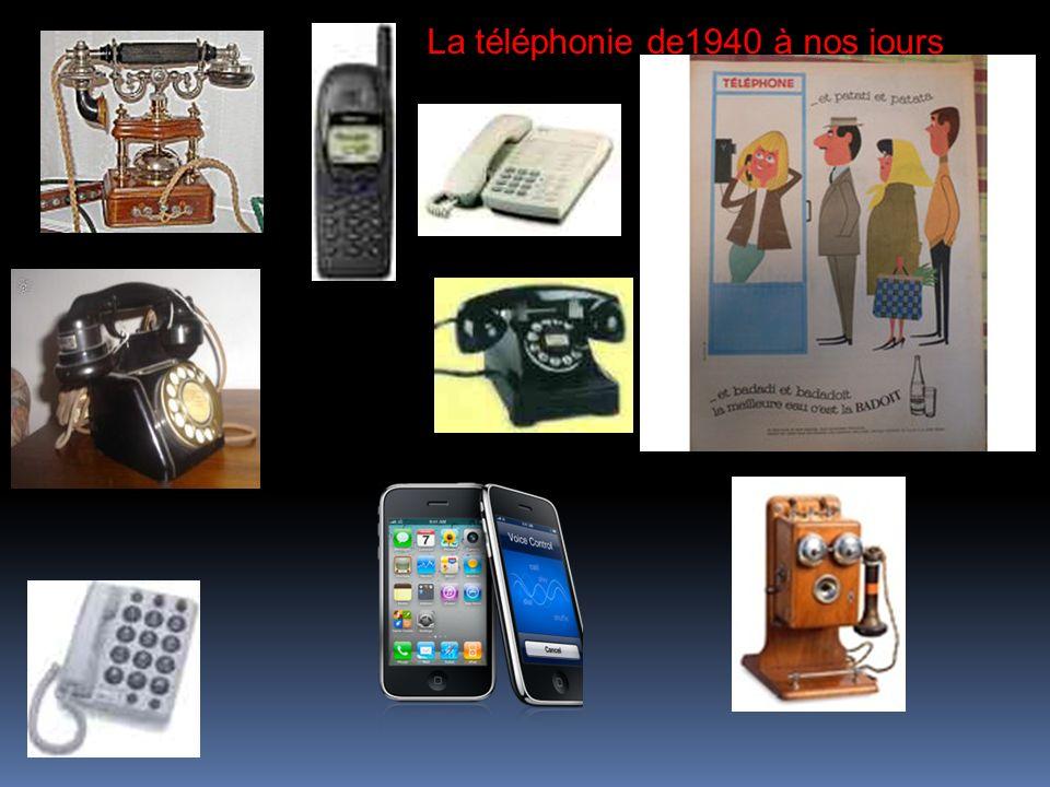 La téléphonie de1940 à nos jours
