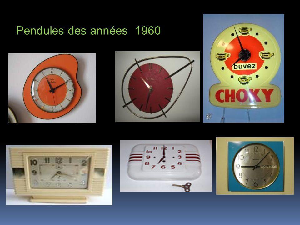 Pendules des années 1960