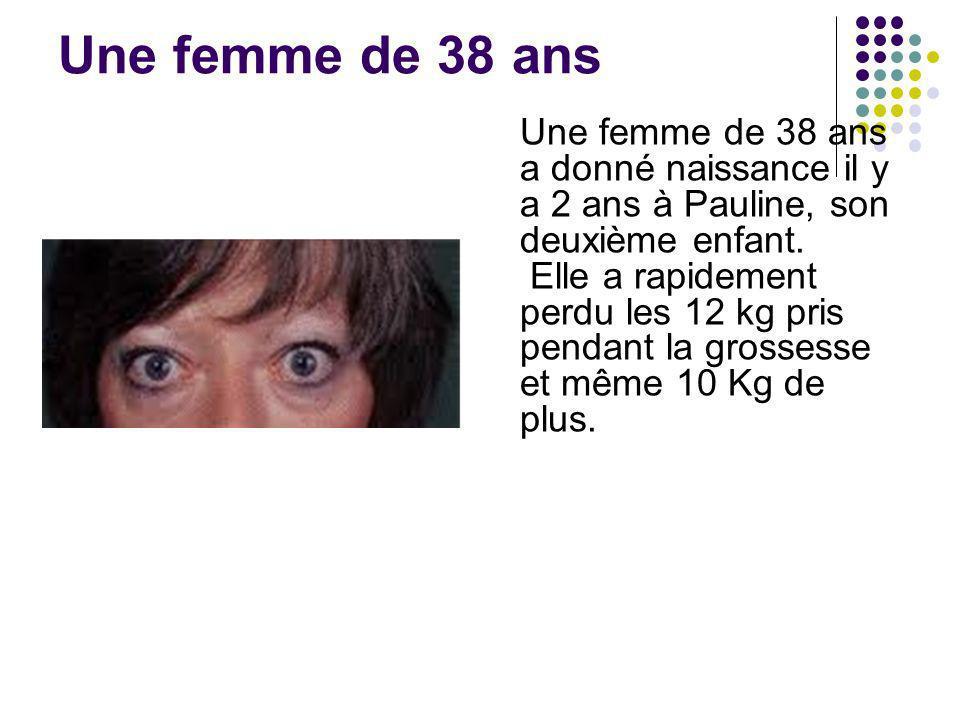 Une femme de 38 ans Une femme de 38 ans a donné naissance il y a 2 ans à Pauline, son deuxième enfant.