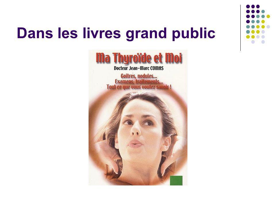 Dans les livres grand public