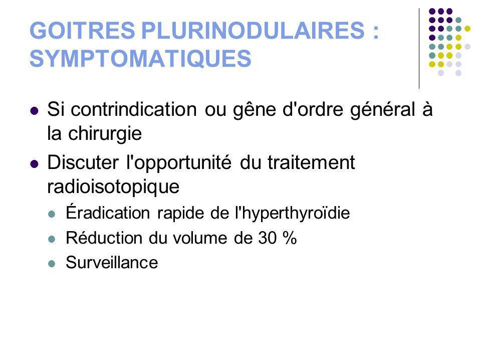 GOITRES PLURINODULAIRES : SYMPTOMATIQUES