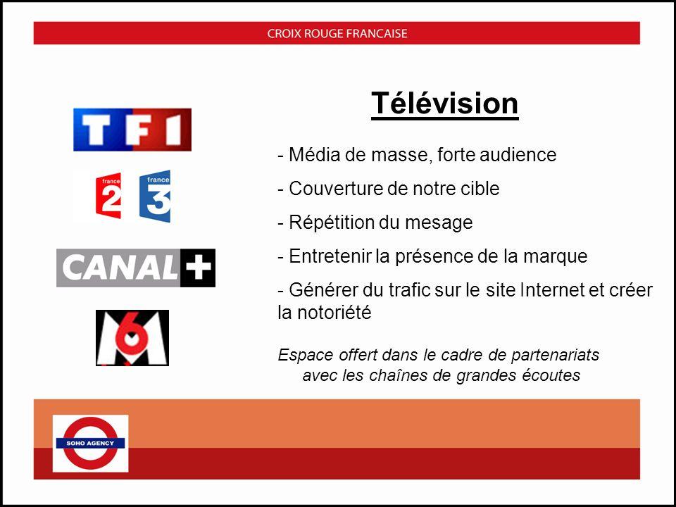 Télévision - Média de masse, forte audience