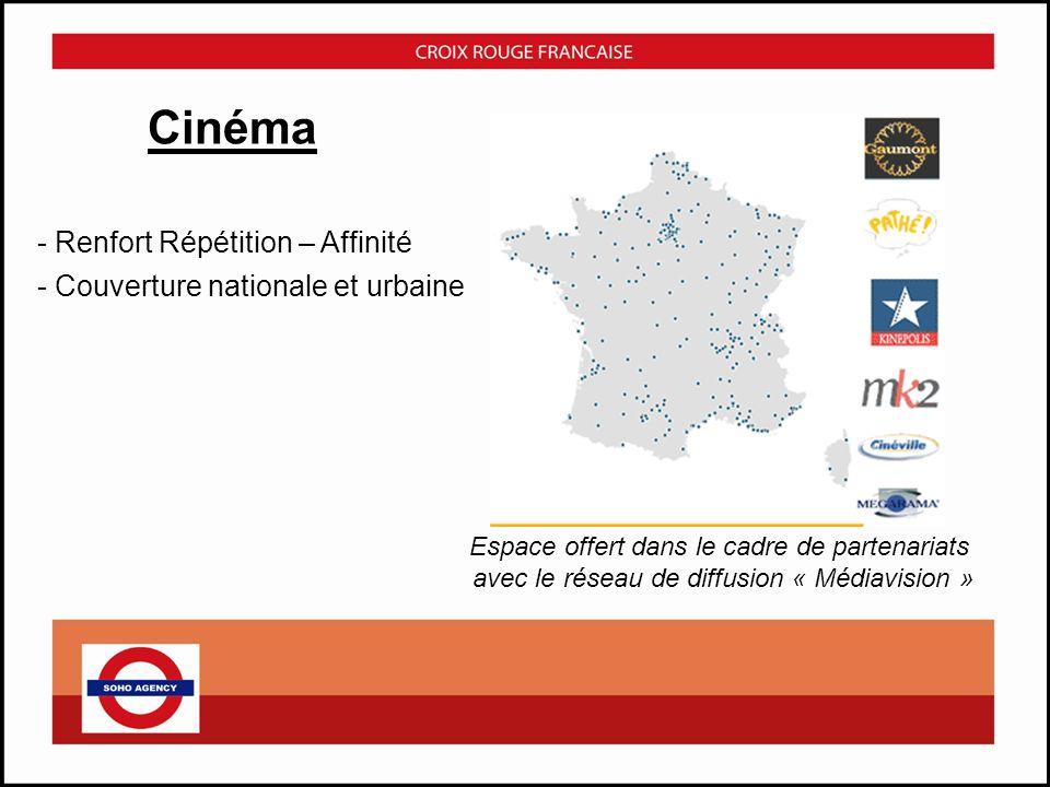 Cinéma Renfort Répétition – Affinité Couverture nationale et urbaine