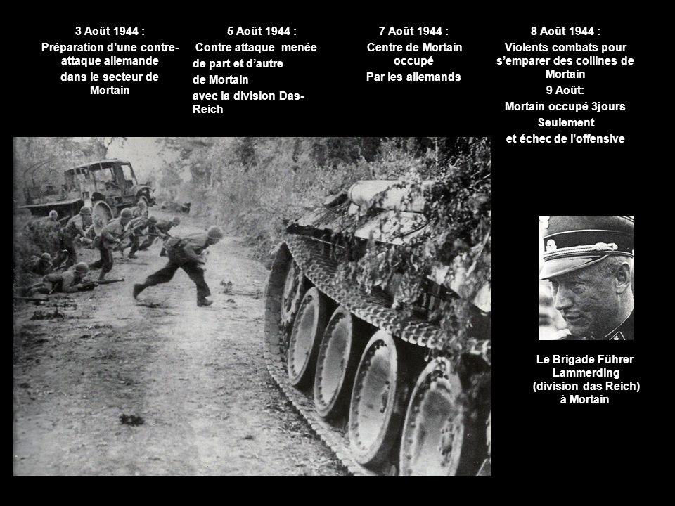 Préparation d'une contre-attaque allemande dans le secteur de Mortain