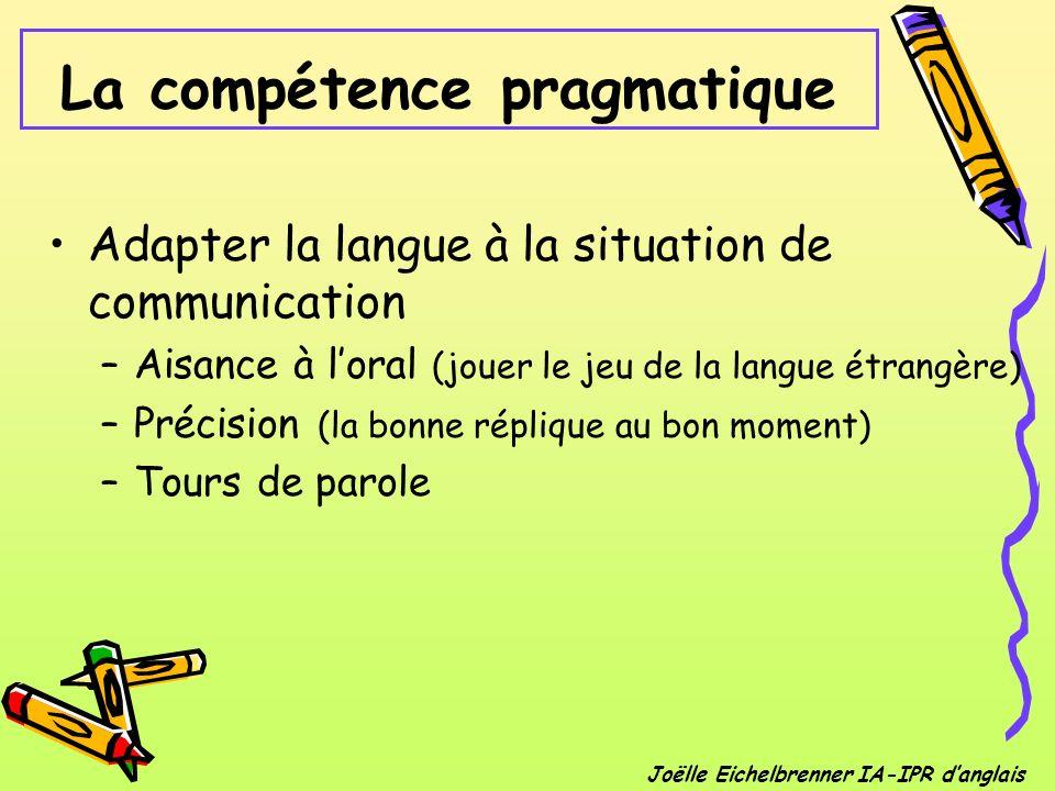 La compétence pragmatique