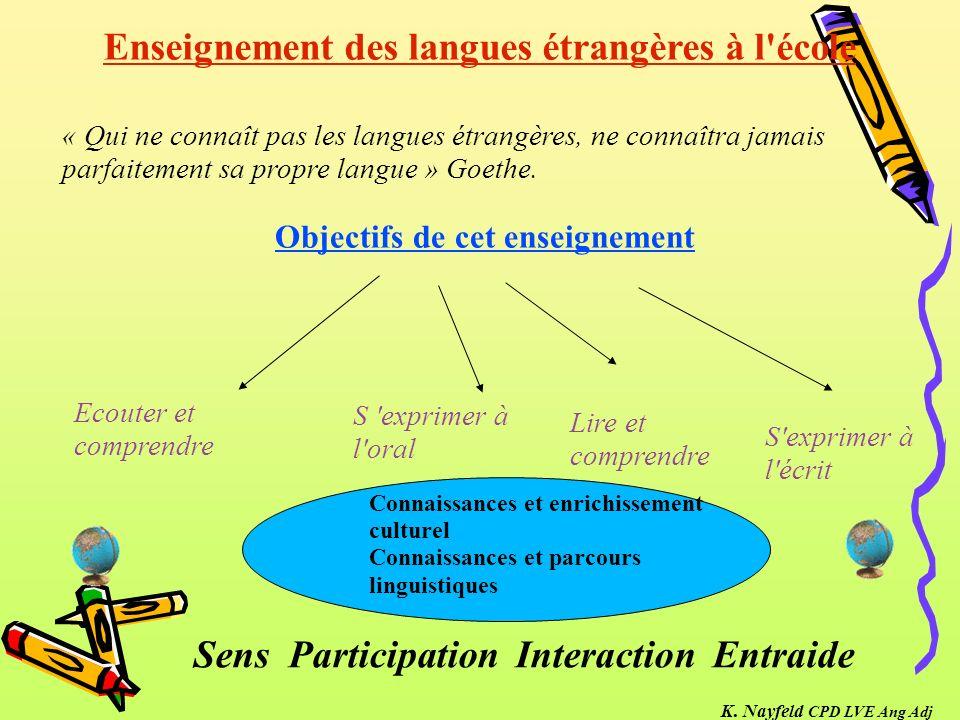 Enseignement des langues étrangères à l école