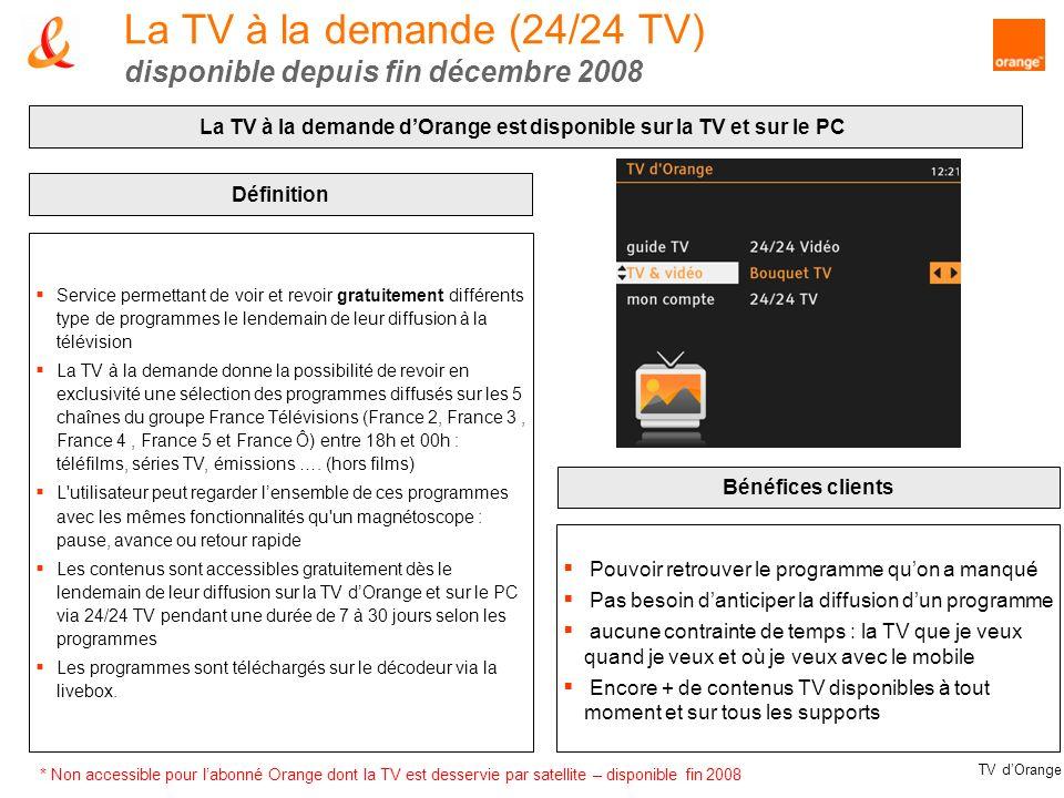 La TV à la demande (24/24 TV) disponible depuis fin décembre 2008