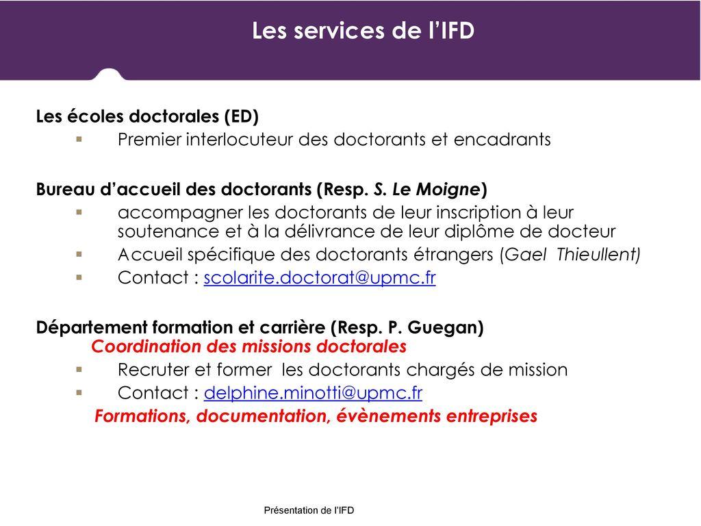 Les Services De Lifd Les Ecoles Doctorales Ed