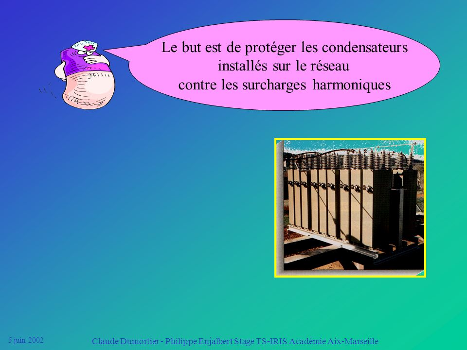 Le but est de protéger les condensateurs installés sur le réseau