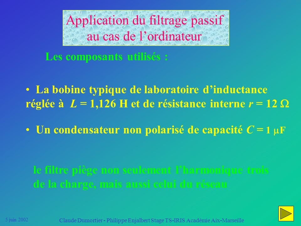 Application du filtrage passif