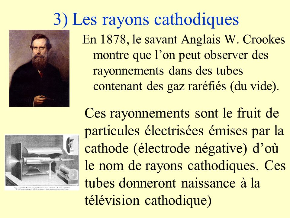 3) Les rayons cathodiques