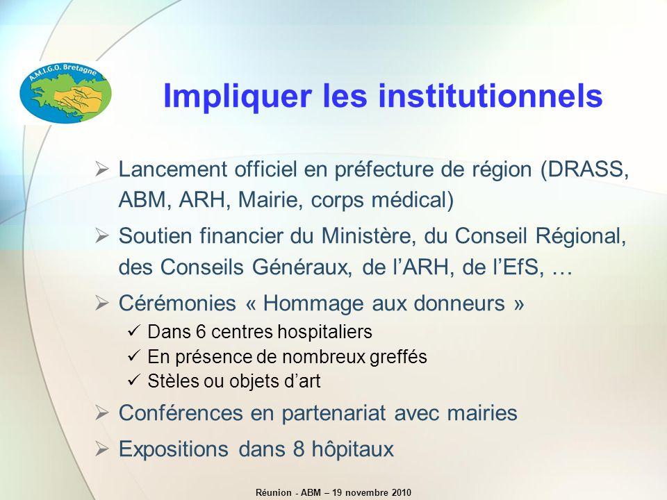 Impliquer les institutionnels