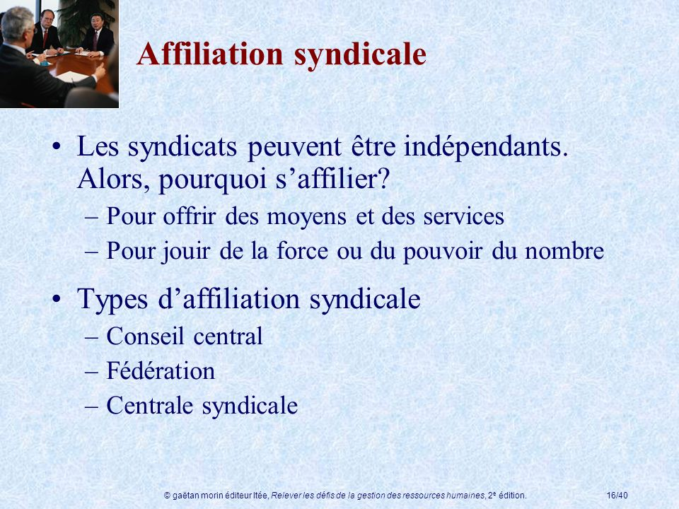 Affiliation syndicale