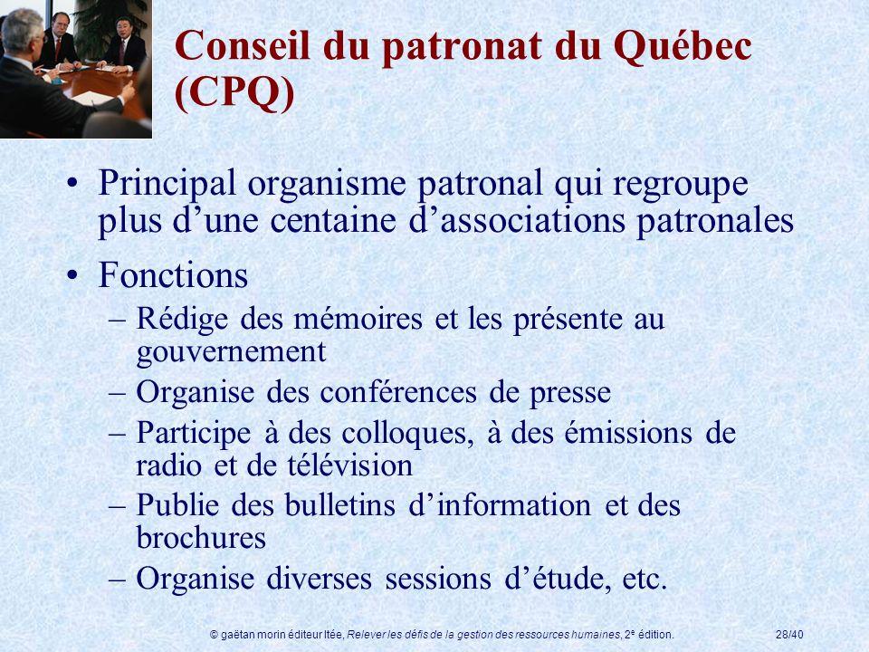 Conseil du patronat du Québec (CPQ)