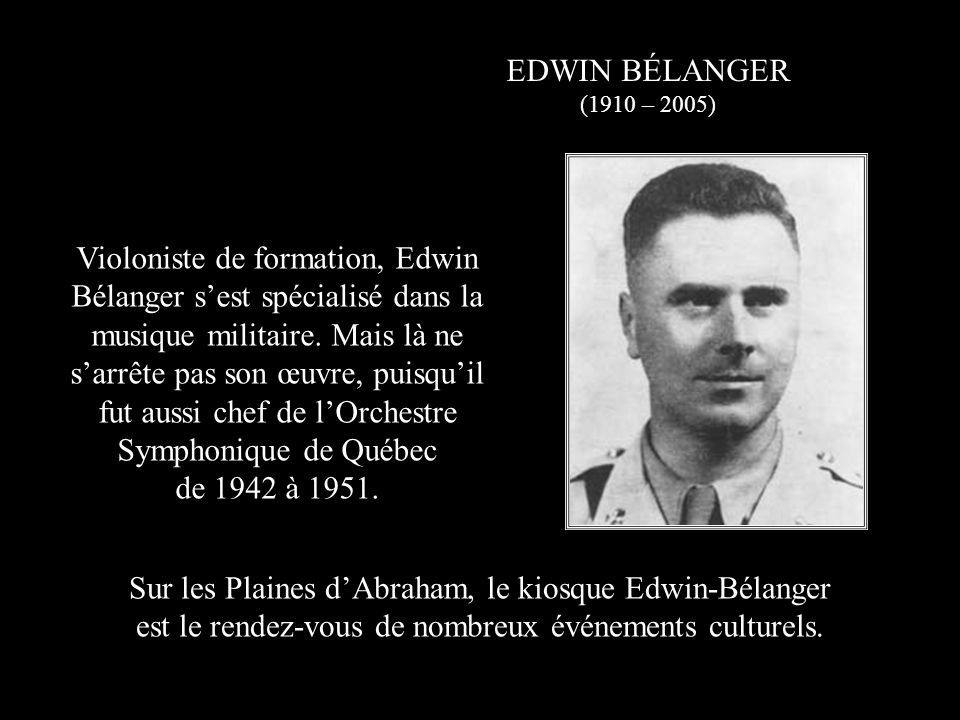 fut aussi chef de l'Orchestre Symphonique de Québec de 1942 à 1951.