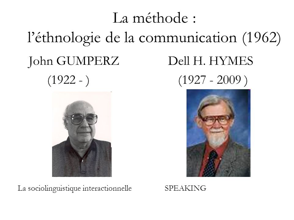 La méthode : l'éthnologie de la communication (1962)