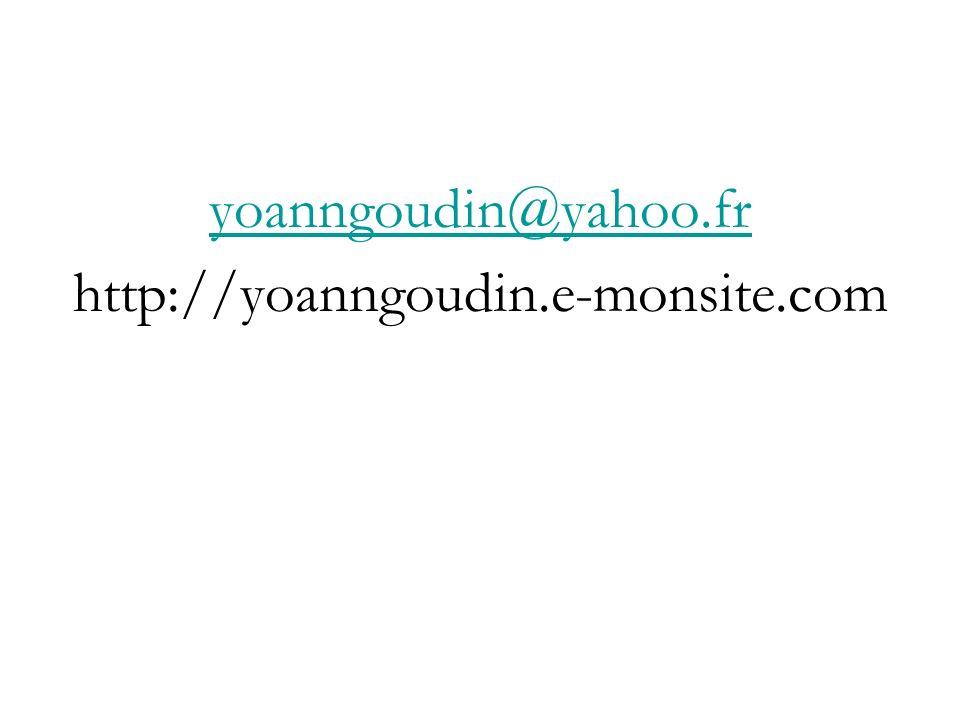 yoanngoudin@yahoo.fr http://yoanngoudin.e-monsite.com