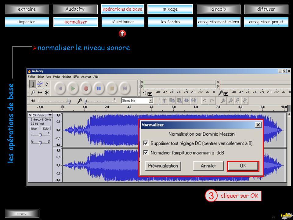 3 3 les opérations de base normaliser le niveau sonore