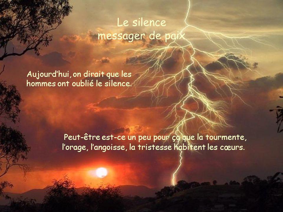 Le silence messager de paix