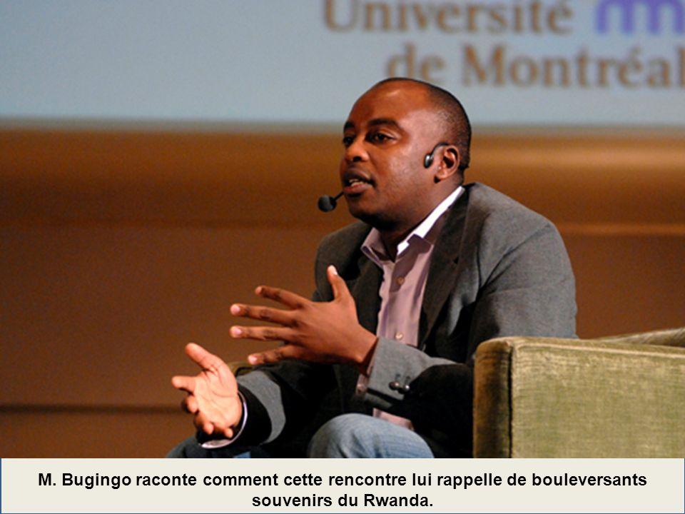 M. Bugingo raconte comment cette rencontre lui rappelle de bouleversants souvenirs du Rwanda.