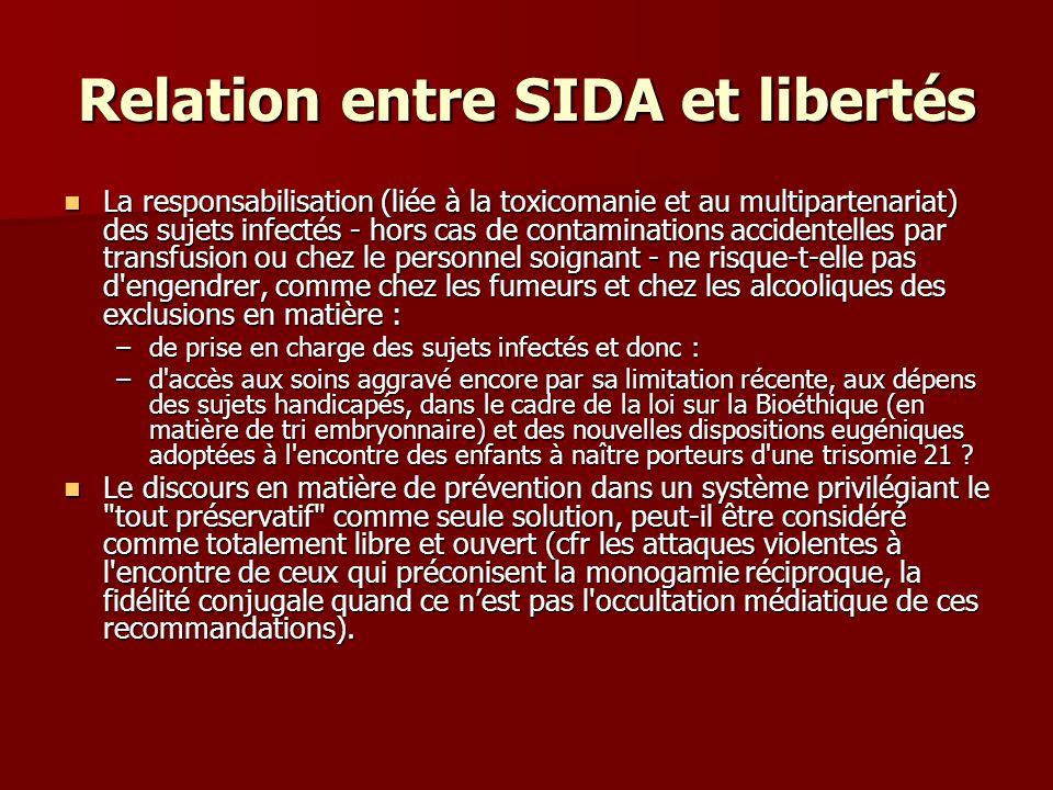 Relation entre SIDA et libertés