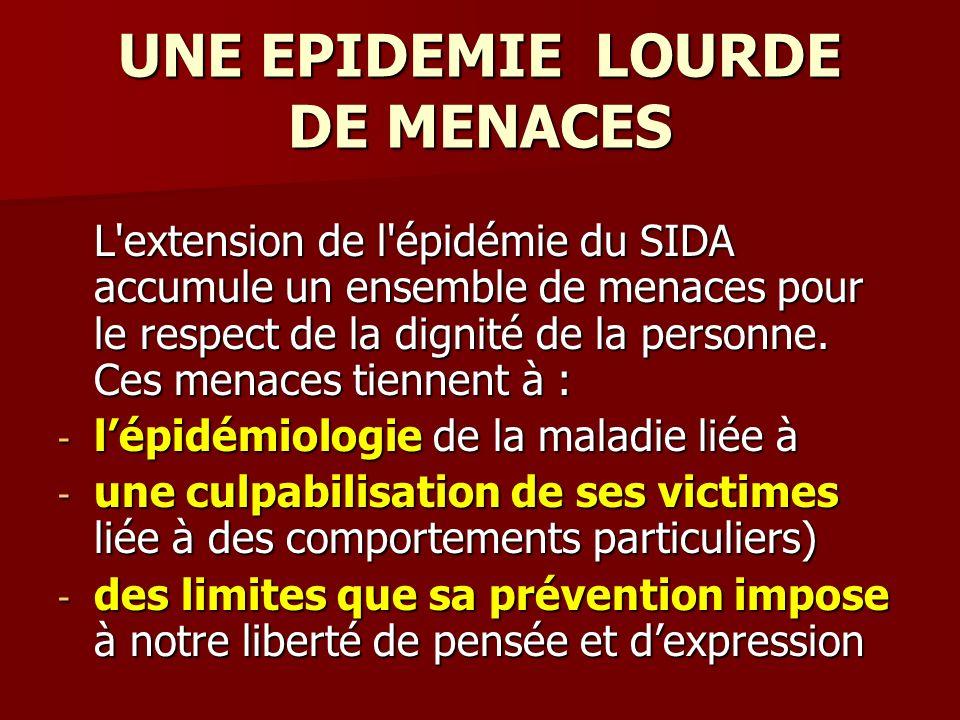 UNE EPIDEMIE LOURDE DE MENACES