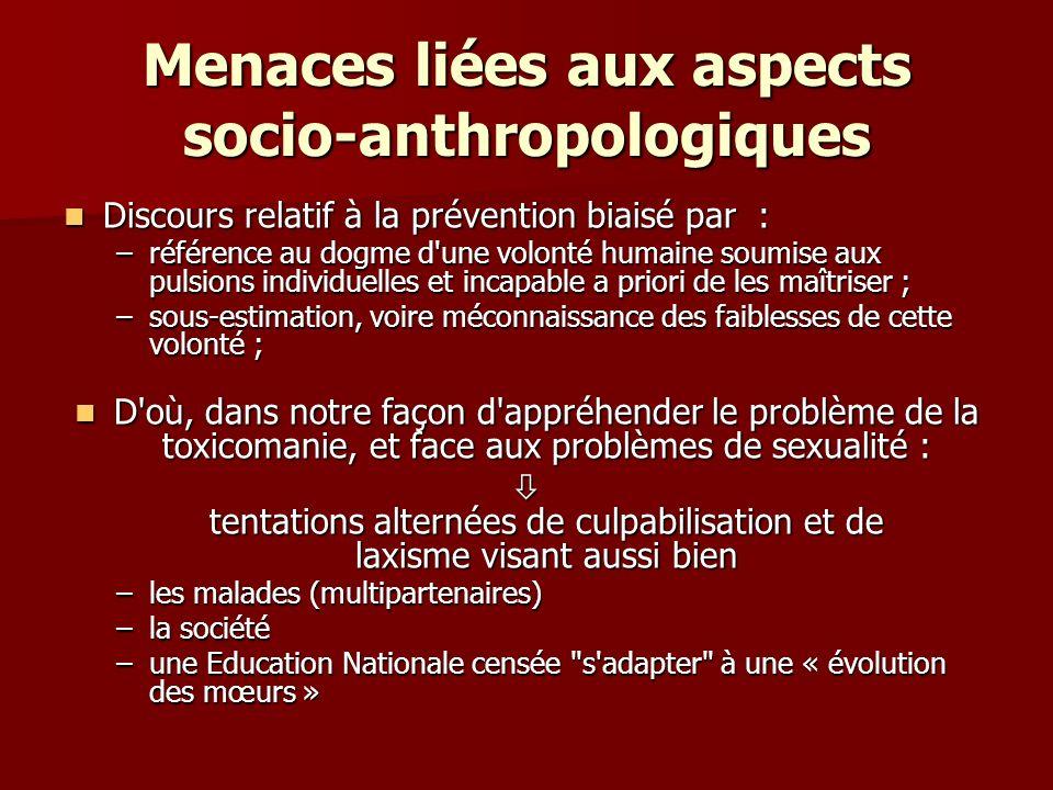 Menaces liées aux aspects socio-anthropologiques