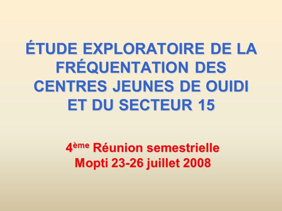 4ème Réunion semestrielle Mopti 23-26 juillet 2008