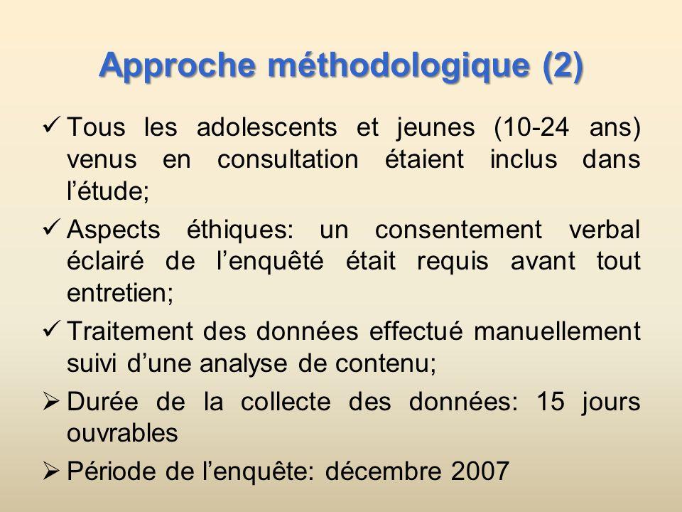 Approche méthodologique (2)