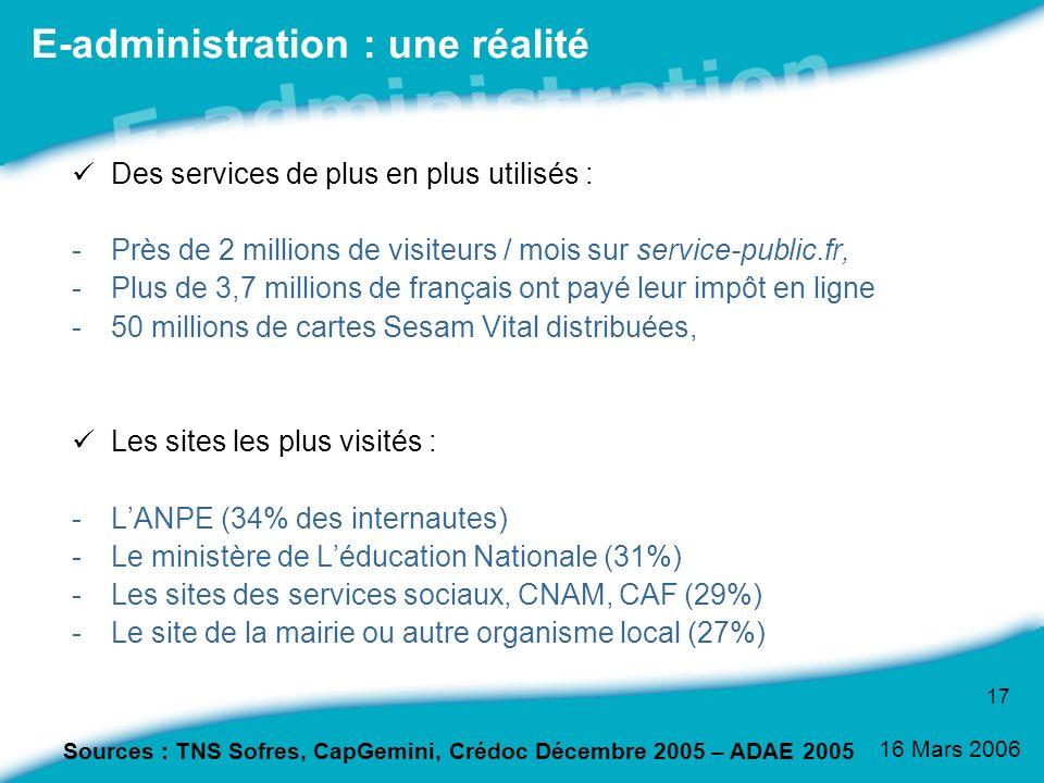 E-administration : une réalité