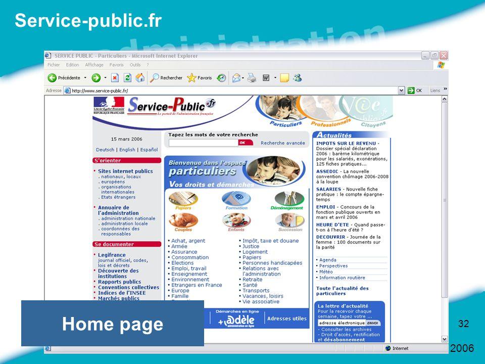 Service-public.fr Home page