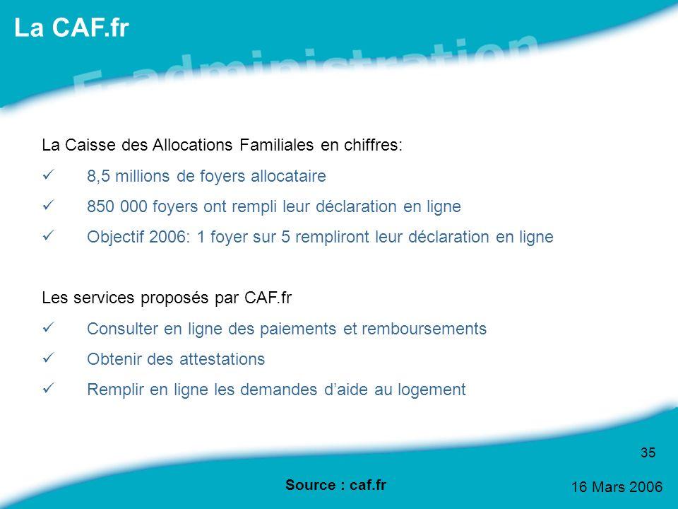 La CAF.fr La Caisse des Allocations Familiales en chiffres: